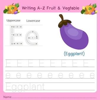 Pisanie az owoce i warzywa e.