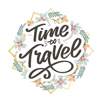 Pismo kaligraficzne napis time to travel
