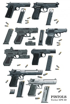 Pistolet pistoletowy z zestawem amunicji