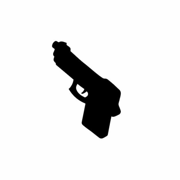 Pistolet symbol logo ilustracja wektorowa