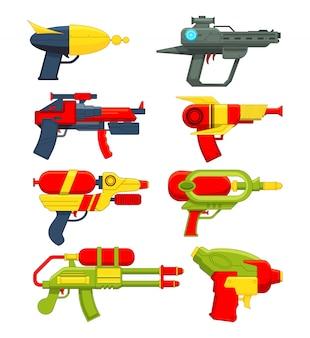 Pistolety na wodę. zabawki na broń dla dzieci