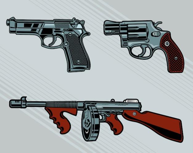 Pistolety wektor paczka