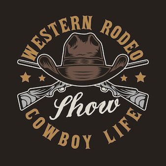 Pistolety z dzikiego zachodu i kowbojski kapelusz