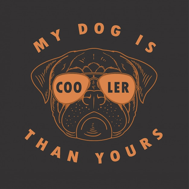 Pit bull mój pies jest chłodniejszy niż twój wektor