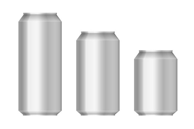 Piwo aluminiowe można ustawić na białym tle