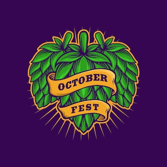 Piwo browarnicze z rocznika szablon wstążki fest października