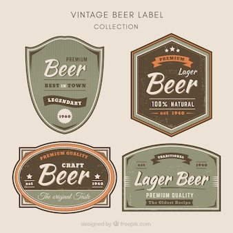 Piwo etykiety retro