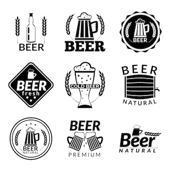Piwo logo szablony collectio