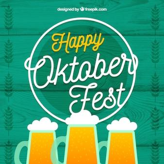 Piwo oktoberfest i światło neonowe