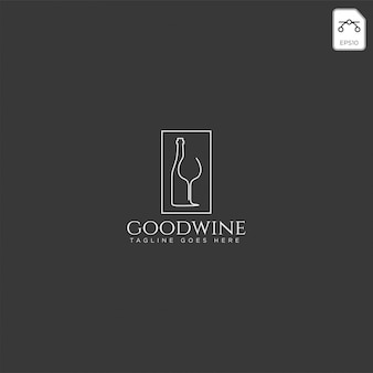 Piwo szkło i butelka kreatywnych logo szablon, element ikona