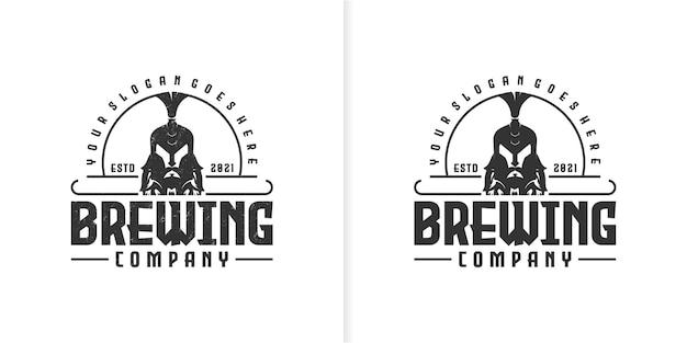 Piwowarskie logo vintage, kreatywne logo dla firmy referencyjnej