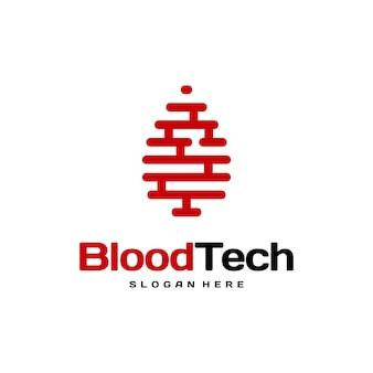 Pix blood technology logo projektuje wektor koncepcyjny, szablon projektu logo blood healthcare, krwiodawca