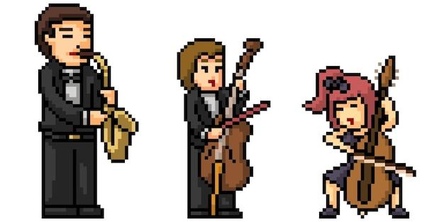 Pixel art klasycznego zespołu muzycznego