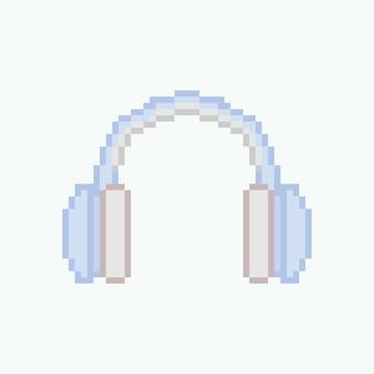 Pixel art niebieskich słuchawek