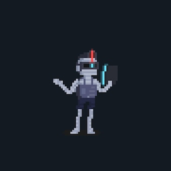 Pixel art przyszła mumia punkowa postać