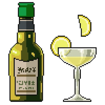 Pixel art zimnego napoju lemoniady