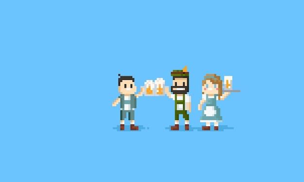 Pixel dwaj faceci kibicują