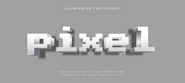 Pixel game zabawny efekt czcionki w stylu tekstu