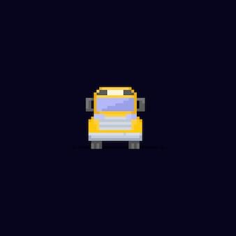 Pixel school bus.8bit.back to school.