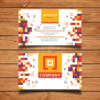 Pixel szablon karty mozaika biznesu