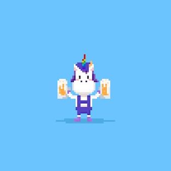Pixel unicorn rozweseli się