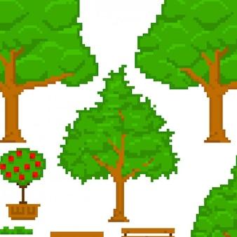 Pixelated drzewa