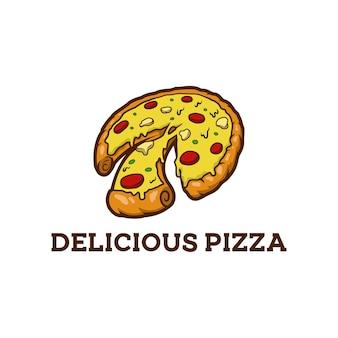 Pizza jedzenie włoski posiłek szybka restauracja kiełbasa warzywo