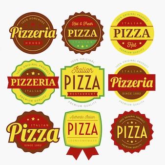 Pizza labels vector
