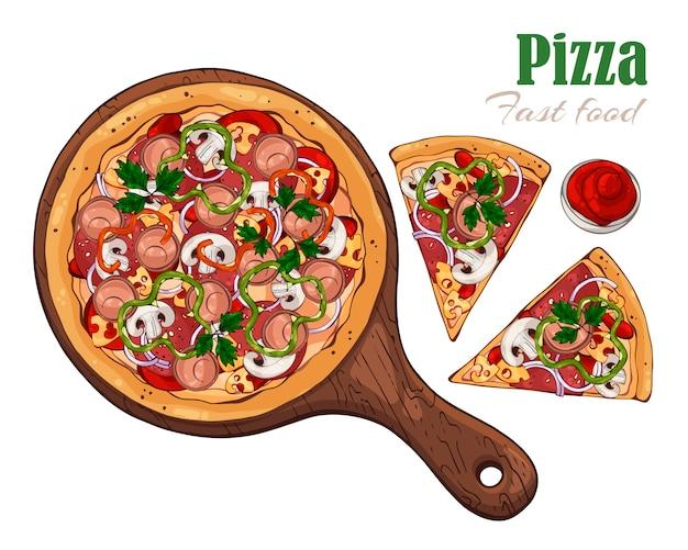 Pizza na desce.