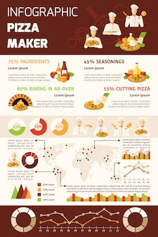 Pizza podejmowania infografiki