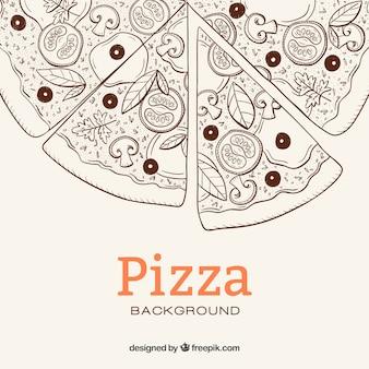 Pizza szkicu tle
