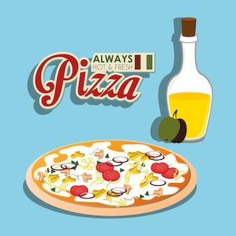 Pizza włoskie jedzenie