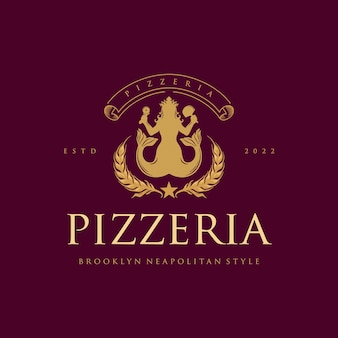 Pizzeria classic elegant logo restauracje i kawiarnie
