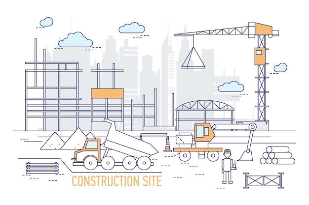 Plac budowy lub teren z wybudowanym budynkiem