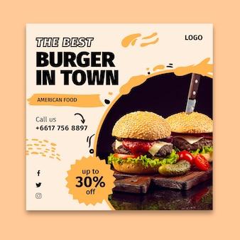 Plac ulotek z amerykańskim jedzeniem