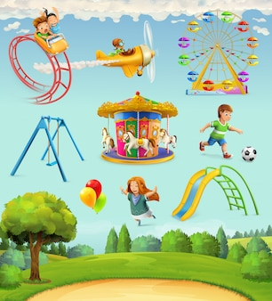 Plac zabaw dla dzieci, komplet