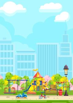 Plac zabaw dla dzieci w designie