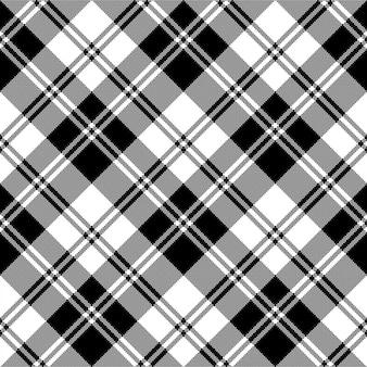 Plaid czarny biały kratę klasyczny wzór