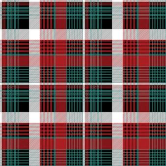 Plaid kratkę czerwony wzór zielony