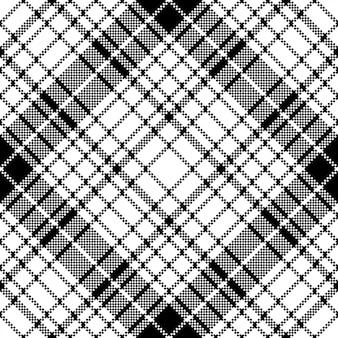 Plaid nowoczesny czarny biały wzór w kratkę
