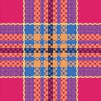 Plaid nowoczesny wzór. tkanina o kwadratowej fakturze. szkocka szkocka krata. ozdoba madras w kolorze piękna.