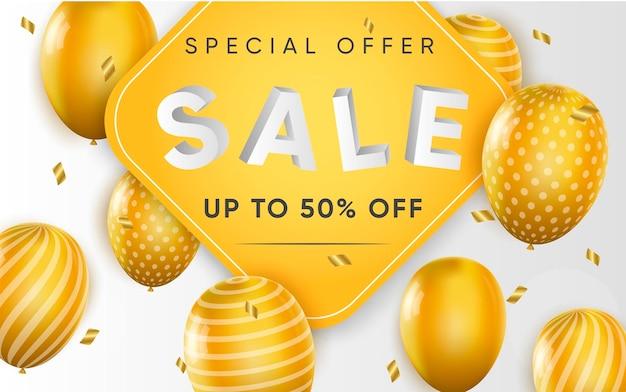 Plakat 3d sprzedaży z rabatem do 50%