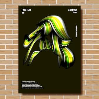 Plakat abstrakcyjny kształt