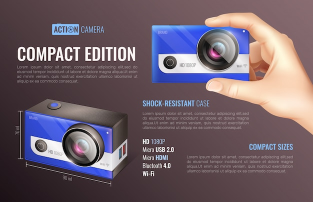 Plakat action camera compact edition