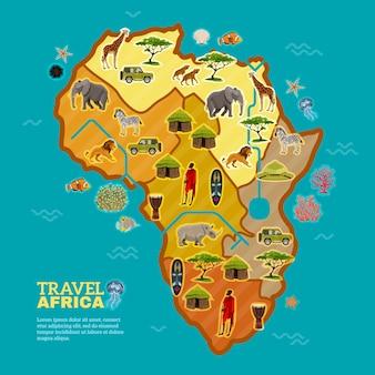 Plakat afryka podróży