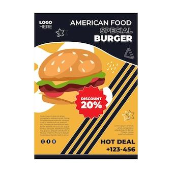 Plakat amerykańskiej żywności