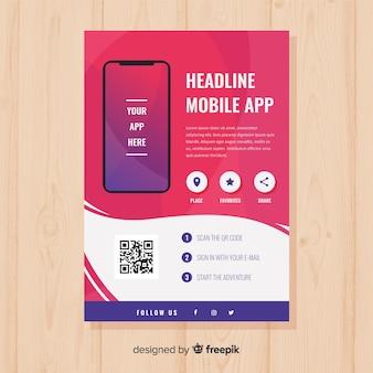 Plakat aplikacji mobilnej