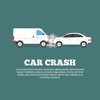 Plakat awarii samochodu