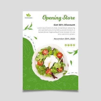 Plakat bio i zdrowej żywności