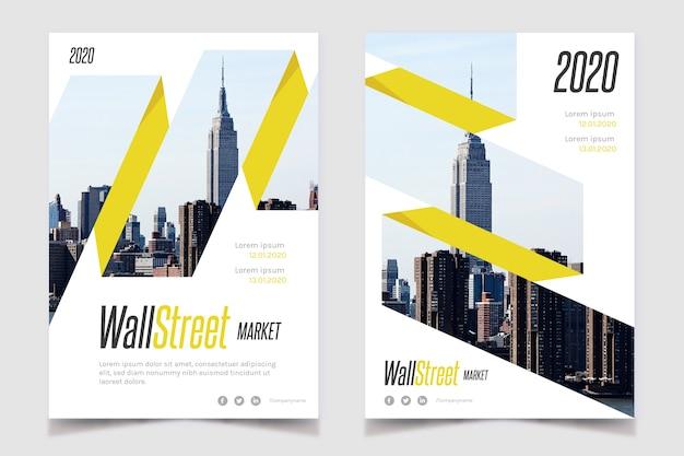 Plakat biznes nieruchomości z miastem